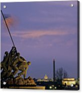 View Of The Iwo Jima Monument Acrylic Print by Kenneth Garrett