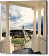 View Of The Marshall Point Lighthouse From The Keeper's House Acrylic Print