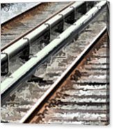 View Of The Railway Track  Acrylic Print