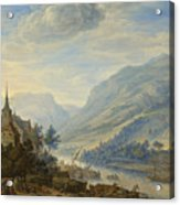 View Of The Rhine River Near Reineck Acrylic Print