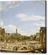 View Of The Roman Forum Acrylic Print by Giovanni Paolo Panini