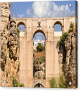 View Of The Tajo De Ronda And The Puente Nuevo Bridge From Across The Valley Acrylic Print