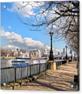 View Of The Thames Acrylic Print