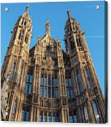 View Of The Top Detail Of The Parlament House In London Acrylic Print