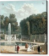 View Of The Tuileries Garden Acrylic Print