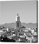 View Of The Village And The Clocher Of Saint-tropez Acrylic Print