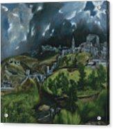View Of Toledo Acrylic Print