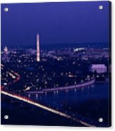 View Of Washington D.c. At Night Acrylic Print