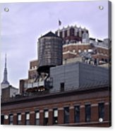 View Of Water Tank From High Line Park Acrylic Print