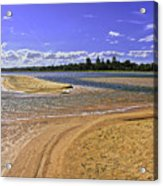 View Of Wollumboola Lake From Sand Dunes Acrylic Print