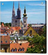 View Of Zagreb Acrylic Print