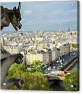 View On Paris City Acrylic Print