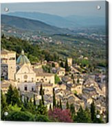 View Over Assisi Acrylic Print