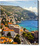 View Over Dubrovnik Coastline Acrylic Print