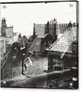 View Over Rooftops In Amsterdam  George Hendrik Breitner  C  1890    . 1910 Acrylic Print