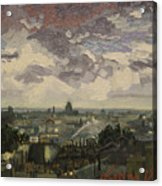 View Over Rooftops Of Paris Acrylic Print