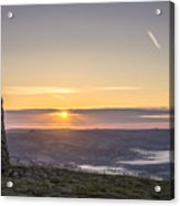 View Over The Hope Valley From Mam Tor At Dawn Acrylic Print