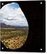 View Through A Portal, Sedona, Arizona Acrylic Print