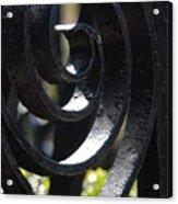 View Through The Iron Fence Acrylic Print