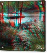 View To The Cove - Use Red-cyan 3d Glasses Acrylic Print