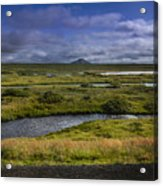 View Towards Lake Myvatn Iceland Acrylic Print