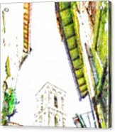 View With Bell Tower Acrylic Print