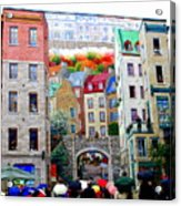 Viewing A Mural At La Fresque Des Quebecois Acrylic Print