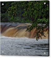 Viewing Tahquamenon Lower Falls Upper Peninsula Michigan 02 Acrylic Print