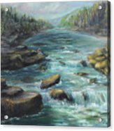 Viewing The Rapids Acrylic Print