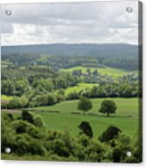 View Of The Surrey Hills From Newlands Corner Acrylic Print