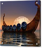 Viking Boat Acrylic Print