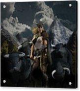 Viking Gefjon Acrylic Print