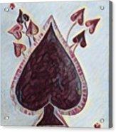 Vikings Ace Of Spades Acrylic Print