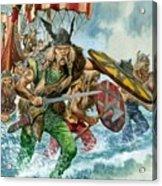 Vikings Acrylic Print by Pete Jackson