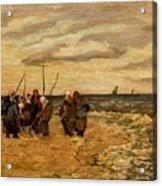 Viktor Ivanovich Zarubin Russian 1866  1928 Fisherwomen In Normandie Acrylic Print