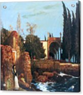 Villa By The Sea 1878 Acrylic Print