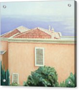 Villa With Cypress Trees Acrylic Print