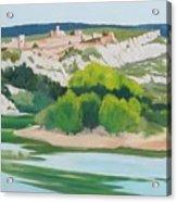 Village Above L'ardeche  Acrylic Print