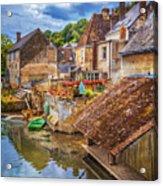 Village At The River Acrylic Print