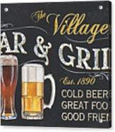 Village Bar And Grill Acrylic Print