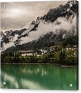Village By The Lake Acrylic Print