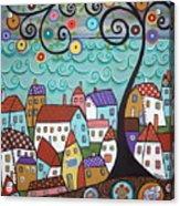 Village By The Sea Acrylic Print by Karla Gerard