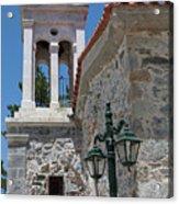 Village Church In Greece Acrylic Print