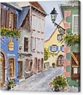 Village In Alsace Acrylic Print