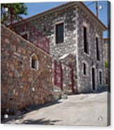 Village In Greece Acrylic Print