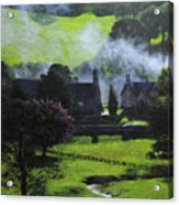Village In North Wales Acrylic Print