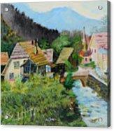 Village In The Austrian Alps Acrylic Print