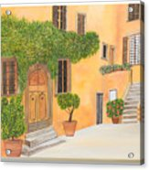 Village In Tuscany N. 4 - Acrylic Print