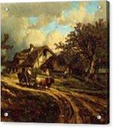 Village Landscape 1844 Acrylic Print