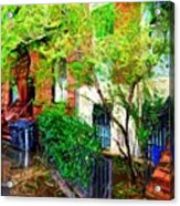Village Life Sketch Acrylic Print